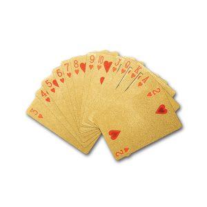 Gouden speelkaarten plastic