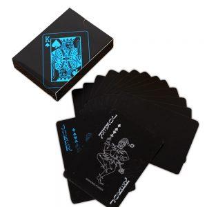 Zwarte speelkaarten plastic